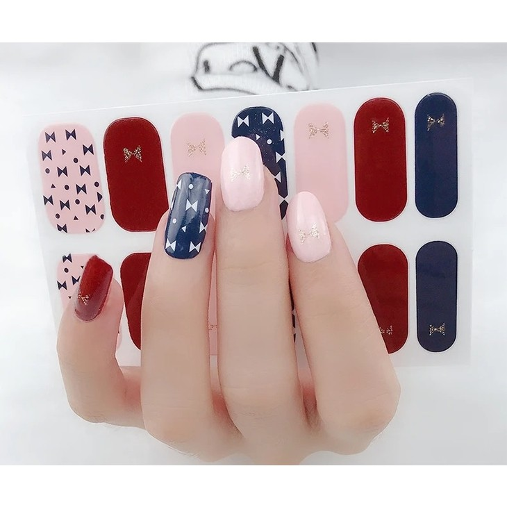 Bow Tie Nail Polish Stickers
