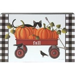 Fall Wagon Box Sign