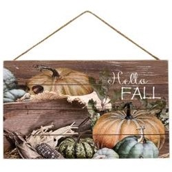 Hello Fall Harvest Wood Sign