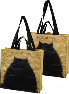Nope Not Today Tote with Cat Design
