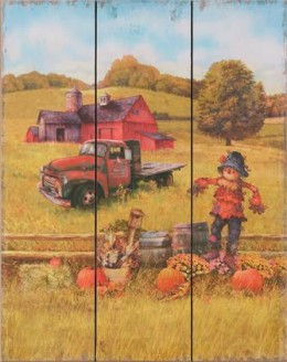 Scarecrow and Truck Wall Art