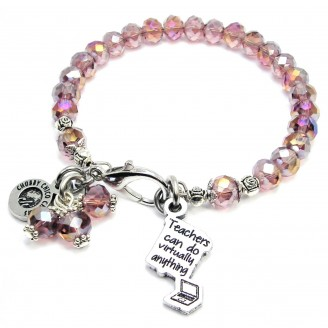 Teacher's Can Do Anything Crystal Bracelet