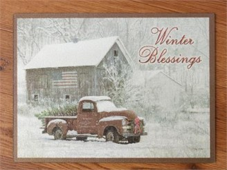 Winter Blessings Cutting Board